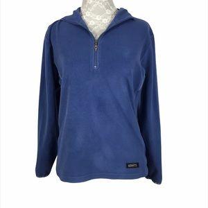 Kerrits Equestrian Blue Fleece Quarter Zip Top
